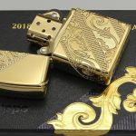 Zippo 29653 Armor 2018 Collectible of The Year Golden Scroll Gold Plate